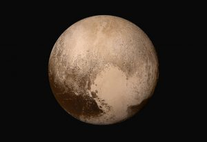 Global mosaic of Pluto in true colors