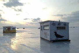 Pêche sur glace à Philipsburg. Crédit photo Rémi Jacques
