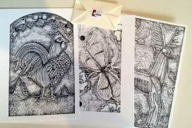 Trio de cartes de Brigite Normandin