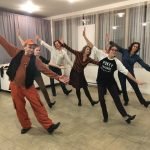 Tap dancing: Wayne Coba & Andrea Conway in the classroom
