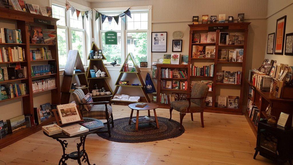 Three Pines Corner at Brome Lake Books, Knowlton