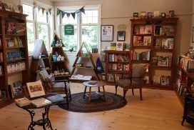 Three Pines Corner at Brome Lake Books, Knowlton