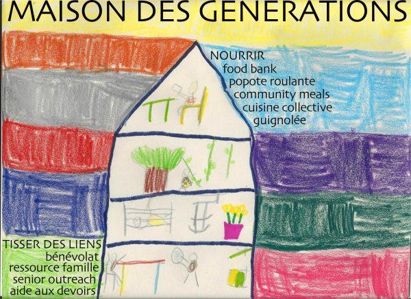 Une maison des générations à Sutton