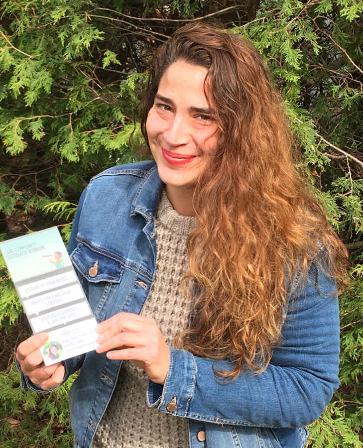 Angie Déry, the new Outreach Worker at the CAB
